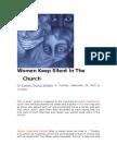 38332360 Women Keep Silent in the Church[1]