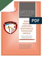 Teste Pentru Admitere August 2018 BFKT