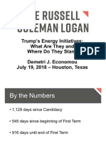Trump's Energy Initiatives—What Are They and Where Do They Stand?