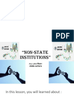 Non State Institutions