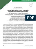 Concentrado de Fibrinogeno Una Opcion Para El Manejo de La Hemorragia