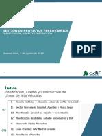 Primer Seminario Técnico Ferroviario Argentina-España - Gestion de Proyectos Ferroviarios ADIF