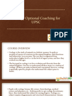 Zoology Optional Coaching for UPSC