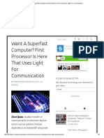 Want a Superfast Computer_ First Processor is Here That Uses Light for Communication