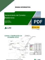 Primer Seminario Técnico Ferroviario Argentina-España - MANTENIMIENTO CORREDOR