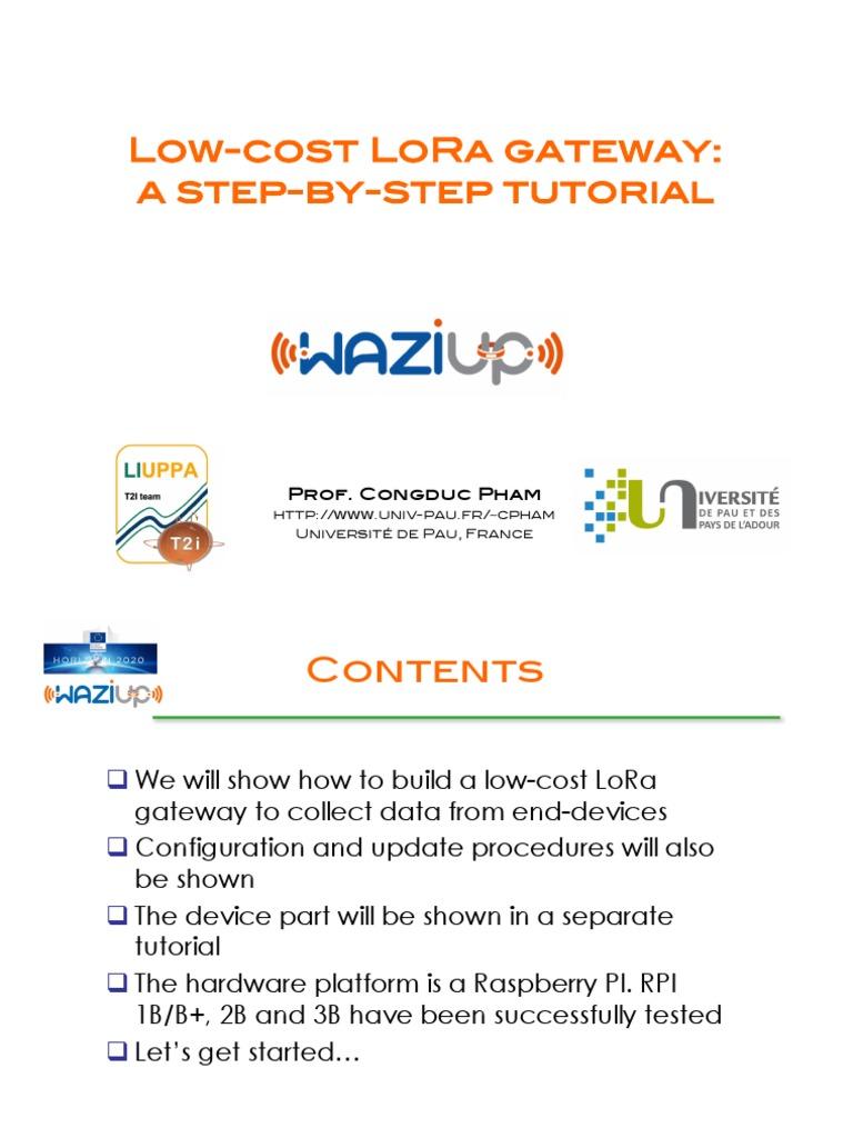 Low-cost-LoRa-GW-step-by-step pdf | Gateway (Telecommunications) | Wi Fi