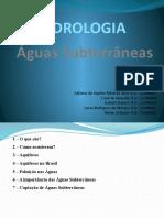 HIDROLOGIA - Aguas Subterâneas