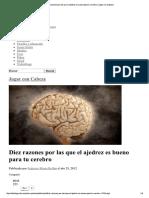 Diez Razones Por Las Que El Ajedrez Es Bueno Para Tu Cerebro _ Jugar Con Cabeza