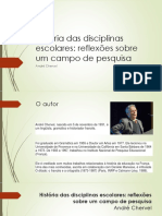 História das disciplinas escolares - Andre Chervel