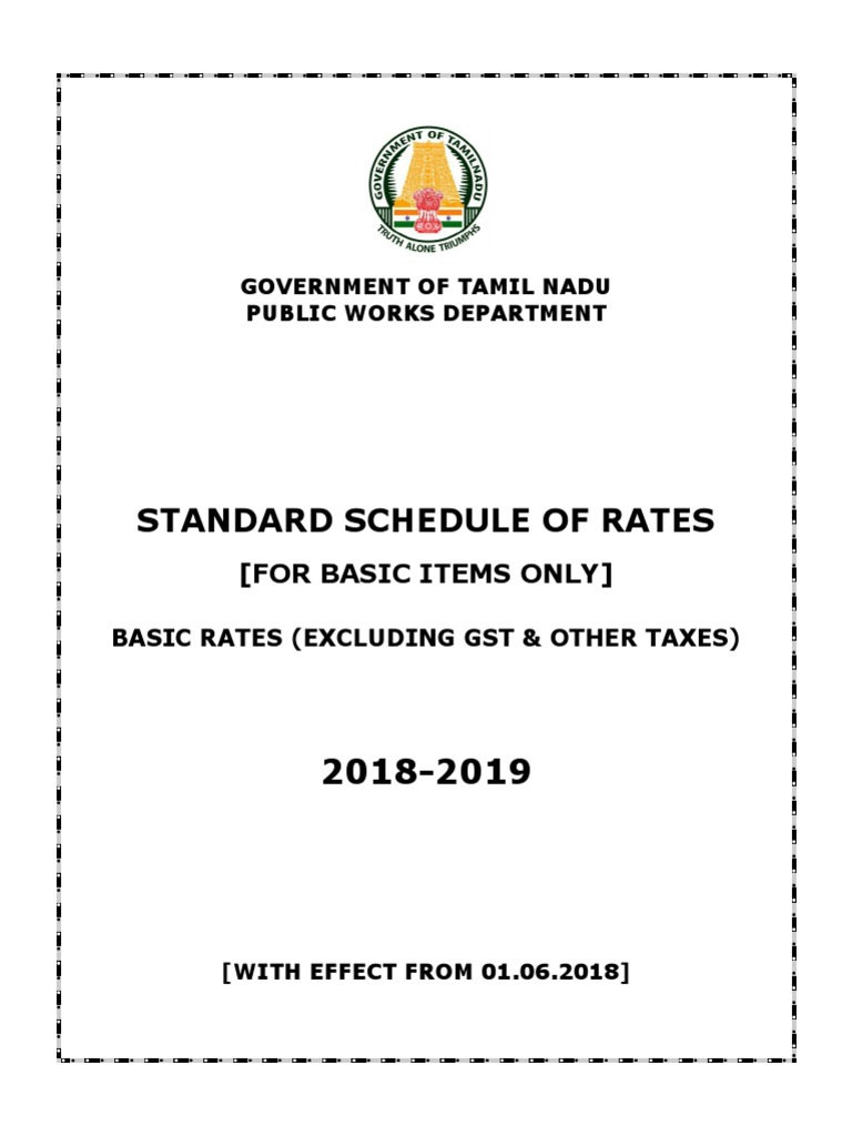 PWD SO RATES 2018-19-WEF 01 06 2018 APPROVED pdf | Lime
