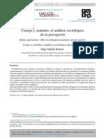 Cuerpo y Sentidos El Analisis Sociologic