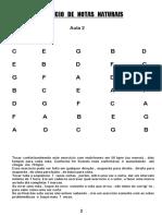 Setor 1 e 2 Notas Naturais e Alteradas