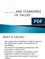Norms and Standards of Values