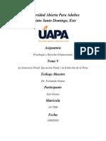 Penología y Derecho Penitenciario Unidad I