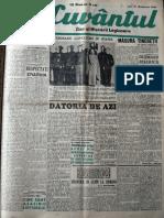 Cuvantul anul XVII (serie noua) nr. 8, 21 oct. 1940
