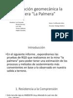 Trabajo de Fortificacion RMR - Mina La Palmera