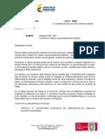 CONCEPTO MINISTERIO_Riesgos Laborales accidente de trabajo y responsbilidad del empleador.pdf