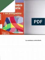 La Enseñanza Universitaria, El Escenario y Sus Protagonistas. Miguel Ángel Zabalza