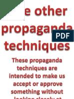 Five Other Propaganda Techniques