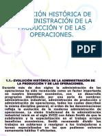 Evolucion Historica de La Administracion de La Produccion y de Las Operaciones