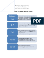 Research Proposal Hearing Process Guide