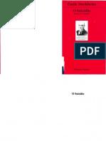 Durkheim O Suicidio