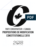 Congrès du Parti conservateur 2018 - propositions de modification constitutionelle