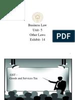 CU-BL-Unit 5-Other Laws -Exhibit -14.pptx