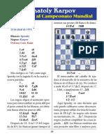10- Spassky vs. Karpov