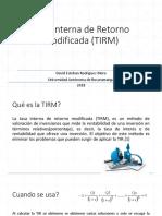 Tasa Interna de Retorno Modificada (TIRM)