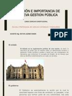Definición e Importancia de La Nueva Gestion Pública