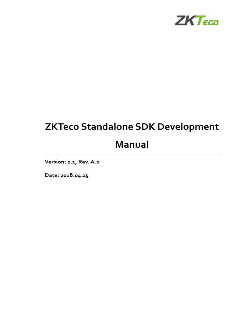 ZKTeco Standalone SDK Development Manual V2 1 a 2-En