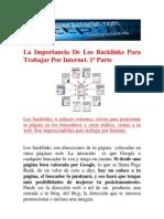 La importancia de los backlinks para trabajar por Internet 1ª Parte