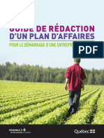 Guide de Redaction Plan Affaires Agricole