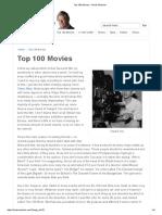 Top 100 Movies – Derek Malcolm
