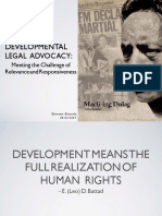 Developmental Legal Advocacy