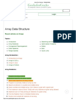Array Data Structure - GeeksforGeeks