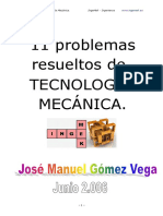 11 Problemas resueltos de Tecnología Mecánica.pdf