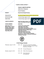 2018 Budget Hearing Notice