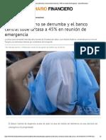 Peso argentino se derrumba y banco central sube tasa a 45% en reunión de emergencia - Diario Financiero