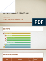 Business Lead Proposal