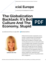 The Globalization Backlash_ It's Both Culture and the Economy, Stupid • Social Europe