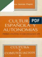 Cultura Española y Autonomías