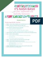 Madi Bachelorette Party Itinerary