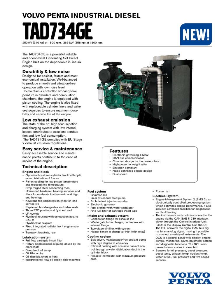 tad734ge pdf diesel engine engines rh scribd com