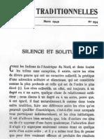 René Guénon - Silence Et Solitude