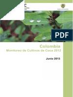 Colombia Monitoreo de Cultivos de Coca 2012 Web