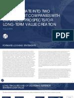 VFC lee wrangler separation spin deck ppt pdf investor presentation aug 2018