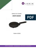 MANUAL DE USUARIO CREPE MAKER