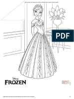 Dibujo de Anna de Frozen Para Colorear _ Dibujos Para Colorear Imprimir Gratis